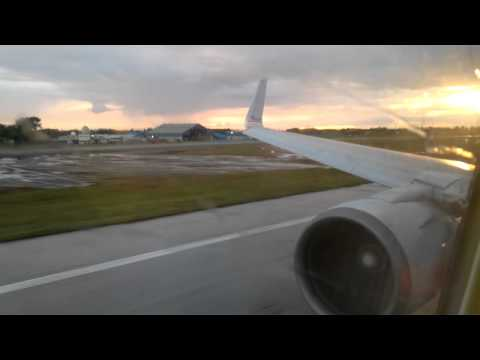 American Airlines 767-300ER Taxi And Takeoff At Piarco's Airport Bound To Miami [HD]