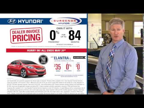 Last Chance On Dealer Invoice Pricing at Surgenor Hyundai in Ottawa.
