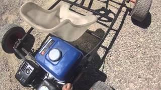 Mon kart fait maison 200cc 6.5ch 3/2