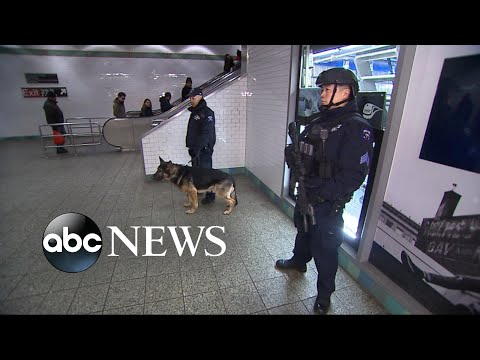 High level of security in Times Square for New Year's Eve