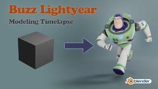 Blender 2 8 Modeling Timelapse || Creating Buzz Lightyear