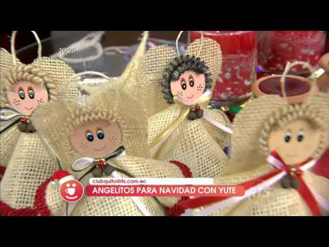 Angelitos para navidad con material reciclable
