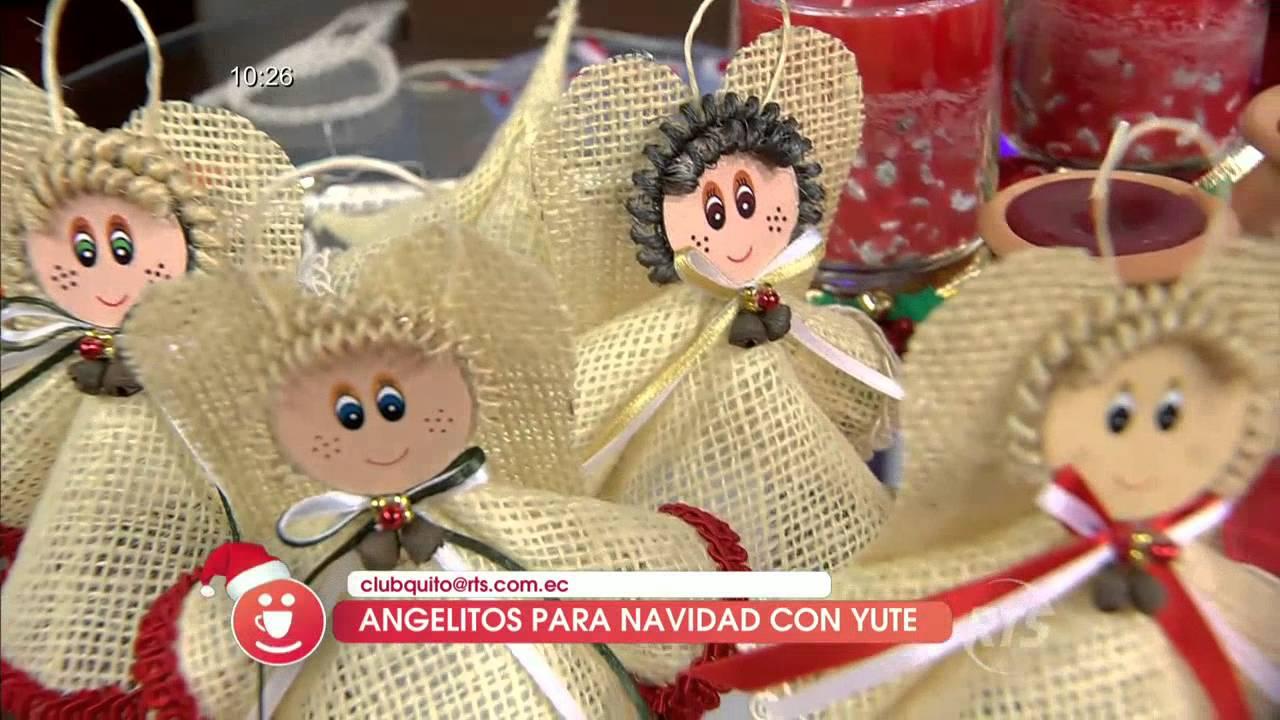 Hicimos angelitos con yute para navidad youtube - Angeles de navidad manualidades ...