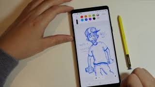 Best and Easiest Drawing App for Sketching Ideas on Samsung Note 9
