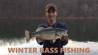 Winter Bank Fishing for Largemouth Bass - Loch Raven Reservoir