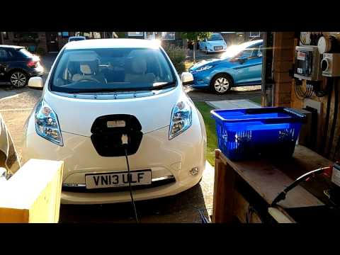 Charging the Nissan Leaf off grid from Solar experiment1.mp4
