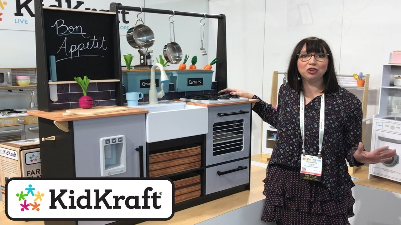 Kidkraft Küche Espresso Farm To Table Playkitchen Toy Demo At The New York Toy Fair 2018 By Kidkraft - Youtube