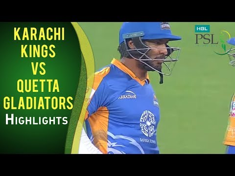 PSL 2017 Match 15: Karachi Kings v Quetta Gladiators Mini Highlights