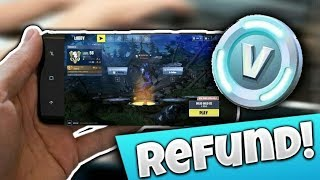 How To REFUND SKINS In Fortnite Mobile! (Free VBUCKS!)