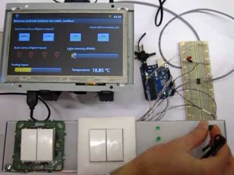Wiring A Temperature Controller Android Touch Screen Communicates With Arduino Using