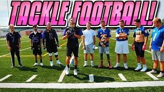 Back Yard Tackle Football No Pads! (Things got Heated!)
