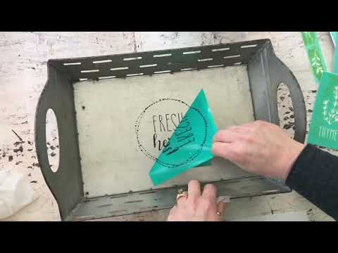 Metal Tray DIY With Chalk Couture