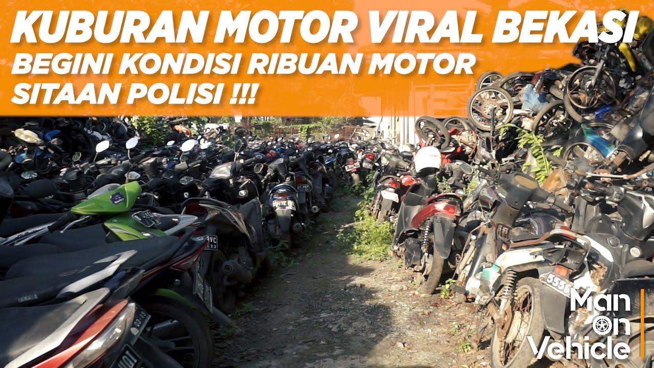 KUBURAN RIBUAN MOTOR VIRAL BEKASI   MOTOR MASIH BAGUS JADI SAMPAH !!!