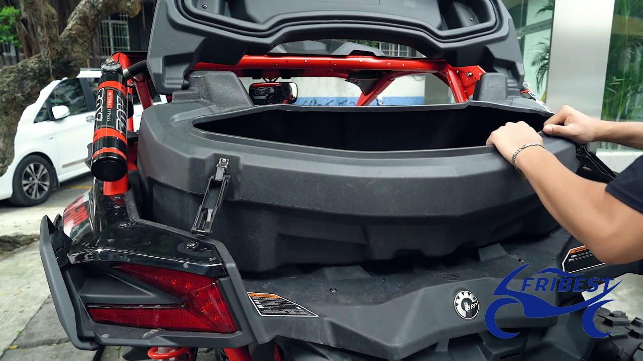 Black Trunk Rear Storage Cargo Box for Can Am Maverick Outlander X3 86L 23 GAL