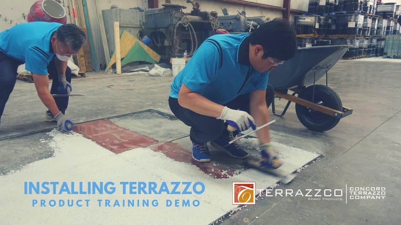 Installing An Epoxy Terrazzo Floor Terrazzco Brand Products
