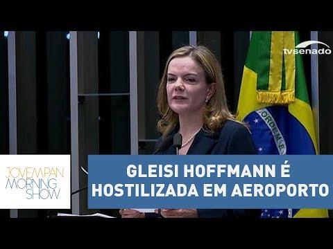 Presidente nacional do PT, senadora Gleisi Hoffmann, é hostilizada por passageira em voo