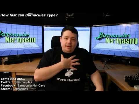 How fast can Barnacules type on his das Keyboard? Let's find out!