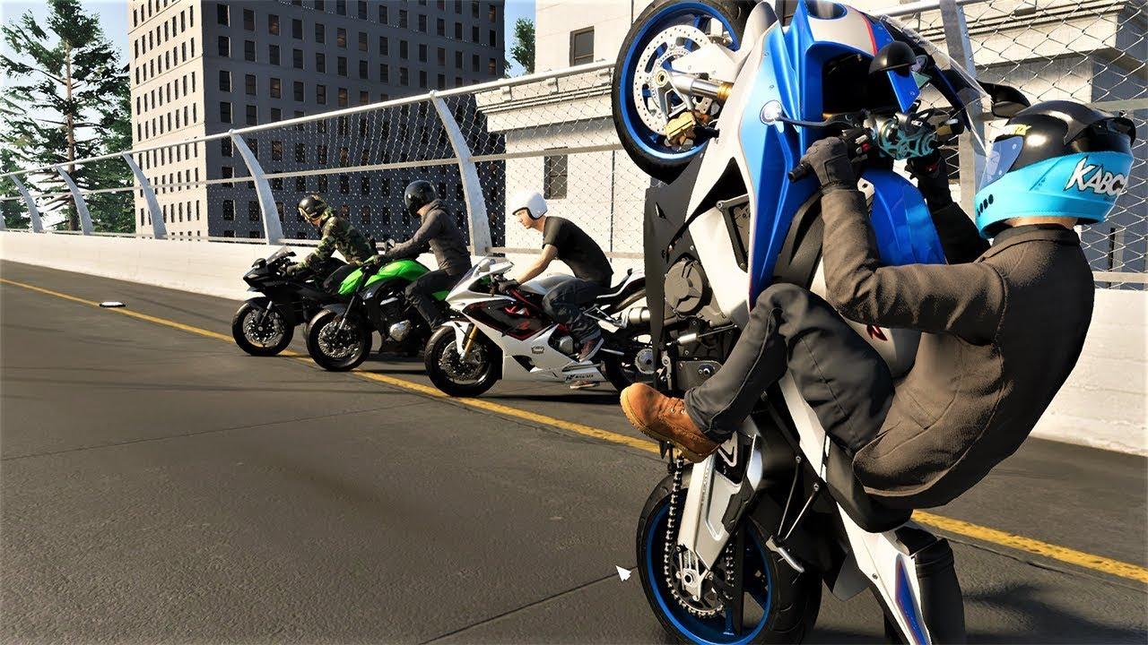 the crew 2 cai de s1000rr com meus amigos de moto em new york city youtube. Black Bedroom Furniture Sets. Home Design Ideas