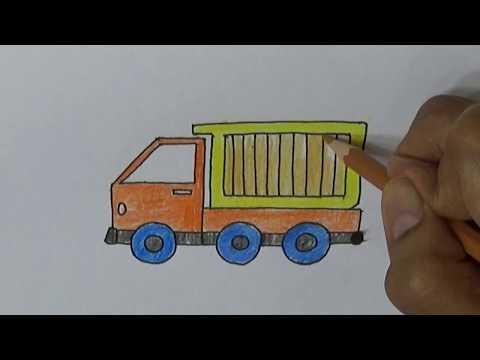 belajar-cara-menggambar-kartun-dengan-pensil-cara-menggambar-dump-truk