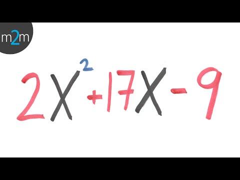 * Trinomio De Forma: Ax^2+bx+c