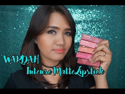 review-&-swatch-|5-warna-wardah-intense-matte-lipstick-|-cleoputri