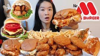 JAPANESE BURGERS! MOS Burger Wagyu Beef Chili Cheese, Crunchy Nuggets   Mukbang w Asmr Eating Sounds