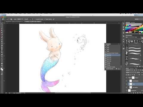 MerBunny for #mermay art challenge – Bunny Mermaid Art  – Digital Painting Tutorial
