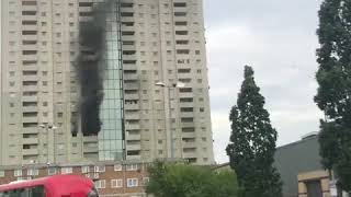 Fifty firefighters tackle Edmonton Tower block blaze in North London
