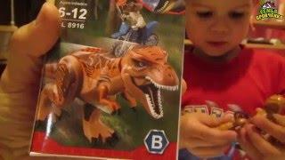 Сім'я Бровченко. Діти збирають ''Лего - Динозаври'', подаровані на Д. р. Теми. (05.16 р.)