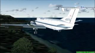 FS2004 - Dangerous Caribbean landing