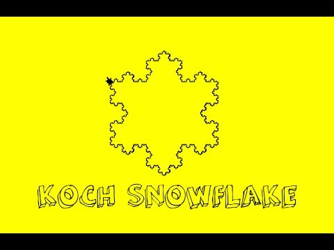 #HowToMake - Koch Snowflake in Python [FRACTAL]