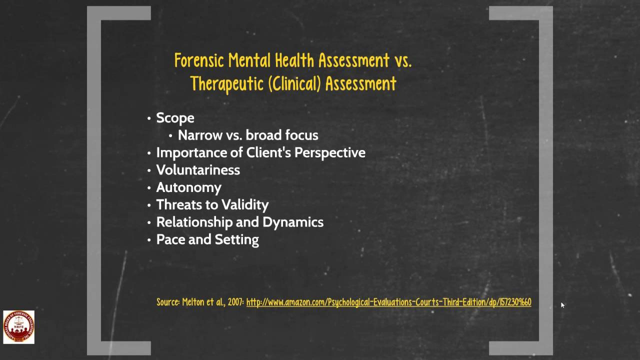 Counselors and Forensic Mental Health Evaluation - YouTube
