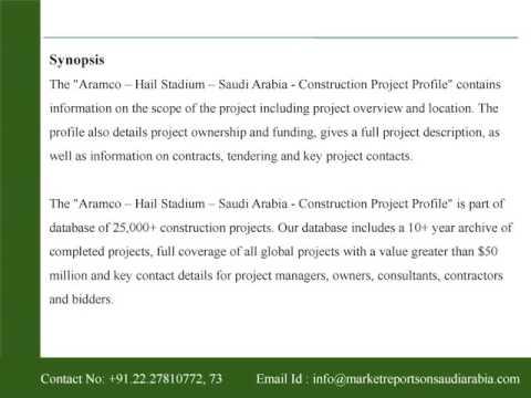 Aramco - Hail Stadium - Saudi Arabia - Construction Project Profile