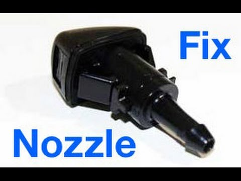 How To: Fix Or Replace Windshield Spray Nozzle Dodge Mopar Charger Challenger