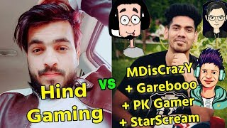 Hind Gaming VS MDisCrazY + Garebooo + P.K.Gamer + StarScream intense fight in Georgopol;  Emulator 