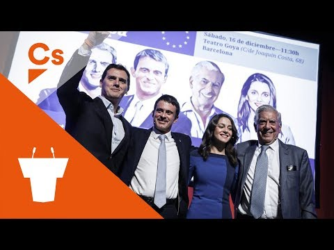 El Futuro de Europa. Acto con Albert Rivera, Manuel Valls, Mario Vargas Llosa e Inés Arrimadas