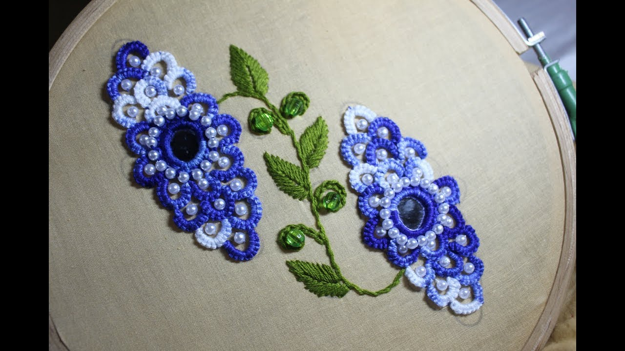 Hand Embroidery Designs Mirror Dress Work Stitch And Flower 150