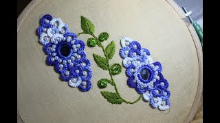 Hand Embroidery Designs | Mirror dress work | Stitch and Flower-150
