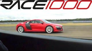 Audi R8 V10 plus vs. Corvette Z06 (60-300kmh) - ROLL RACE