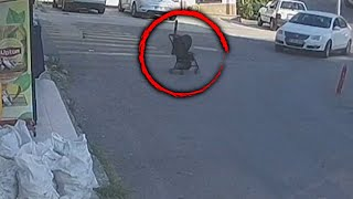 Mom Chases Runaway Stroller With Baby Inside