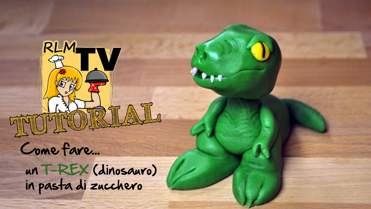 Come Fare Un T Rex Dinosauro In Pasta Di Zucchero Youtube