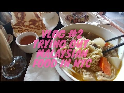 VLOG #2  TRYING OUT MALAYSIAN FOOD IN NYC!