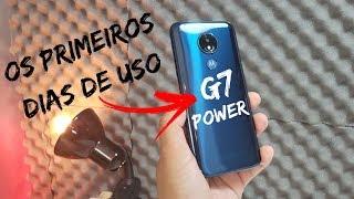 Moto G7 POWER - PRIMEIROS Dias USANDO,uma coisa é certa bateria aqui NÃO falta!