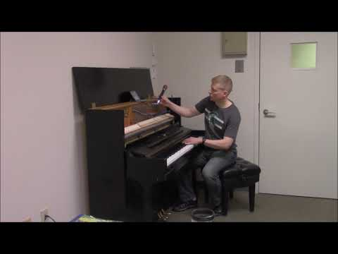 Steinway upright piano tuning and voicing demonstratioin with