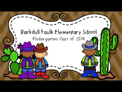 Barkdull Faulk Elementary School 2018 Kindergarten Class