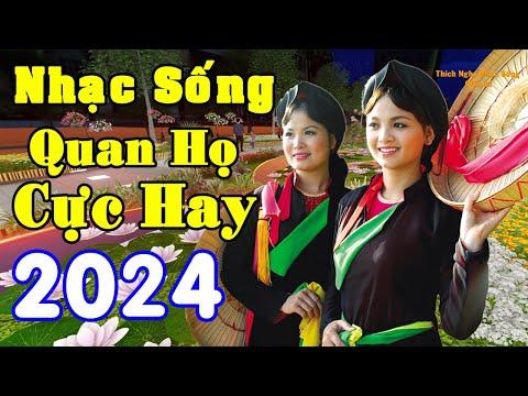 Nhạc Sống Thôn Quê- LK Nhạc Quan Họ Bắc Ninh Hay Nhất - MC Hương Quỳnh