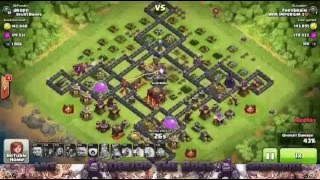 Clash of clans REPLAY ONLY #6 Balor 1.0 Hybrid 275 Walls WAR BASE TH10