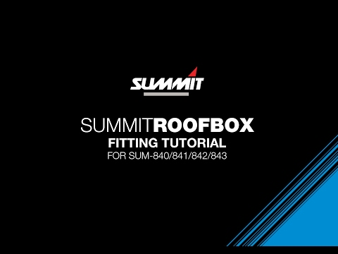 Summit Roof Box Fitting Instructions for SUM 840 Series