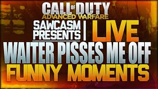 "Advanced Warfare: ""Waiter SPIT IN MY DRINK"" - FUNNY MOMENTS (Live Call of Duty Advanced Warfare)"