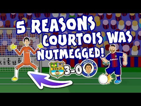 🥜MESSI NUTMEGS COURTOIS ✖️2️⃣ (Barcelona vs Chelsea 3-0 Parody Goal Highlights Champions League)